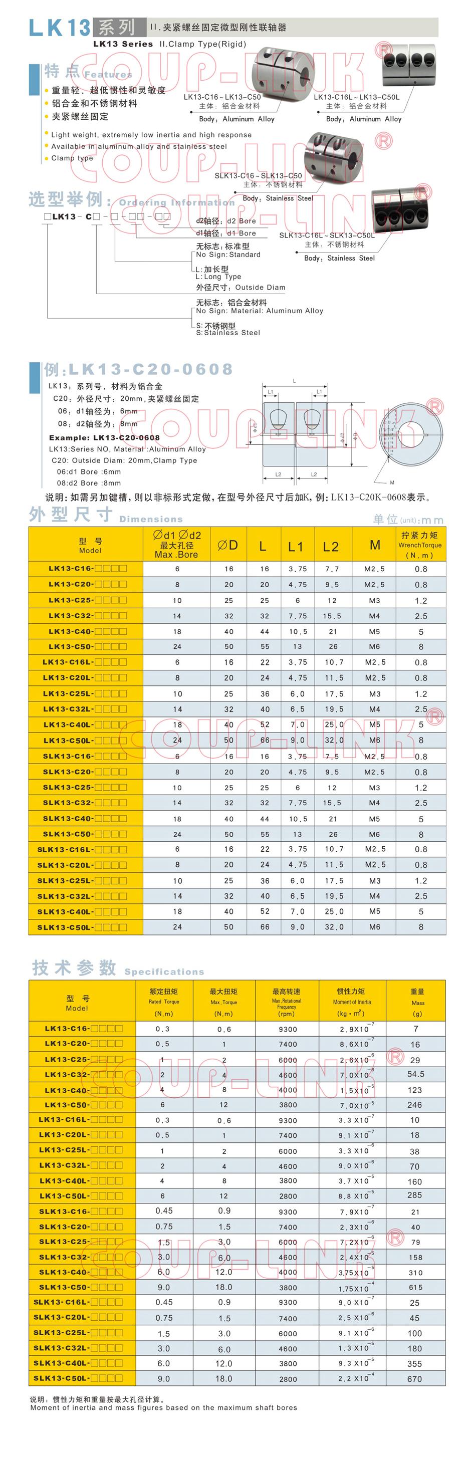 LK13系列 夾緊螺絲固定微型剛性老子有钱app_老子有钱app種類-廣州老子有钱自動化設備有限公司