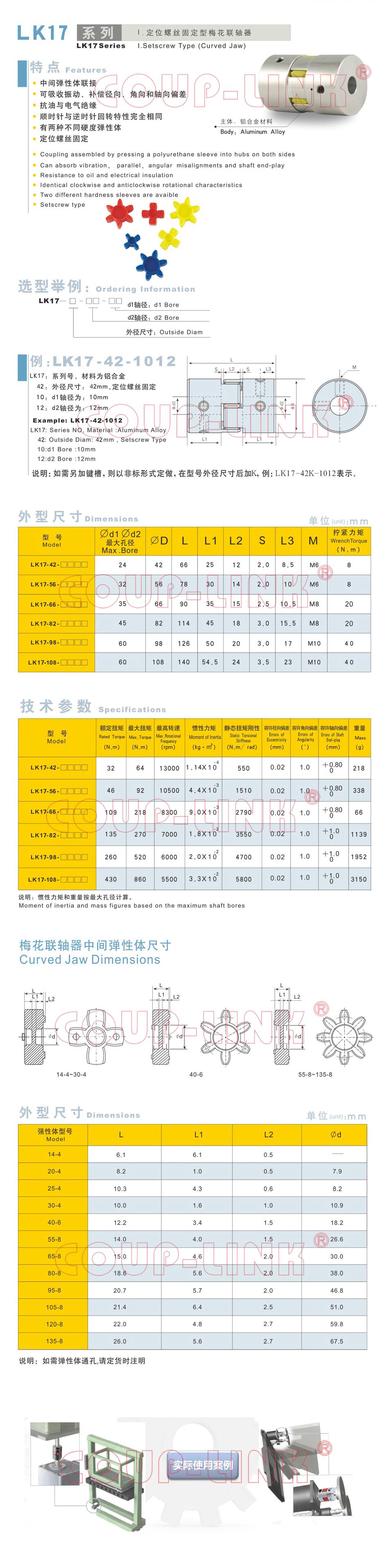 LK17系列 定位螺絲固定型梅花老子有钱app_老子有钱app種類-廣州老子有钱自動化設備有限公司