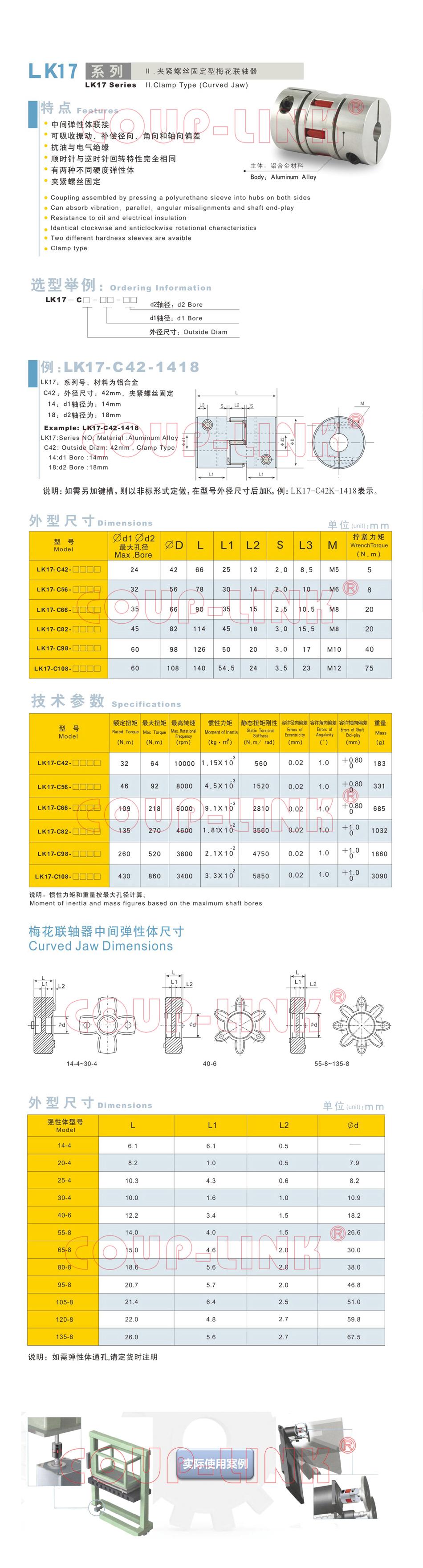 LK17系列 夾緊螺絲固定型梅花老子有钱app_老子有钱app種類-廣州老子有钱自動化設備有限公司