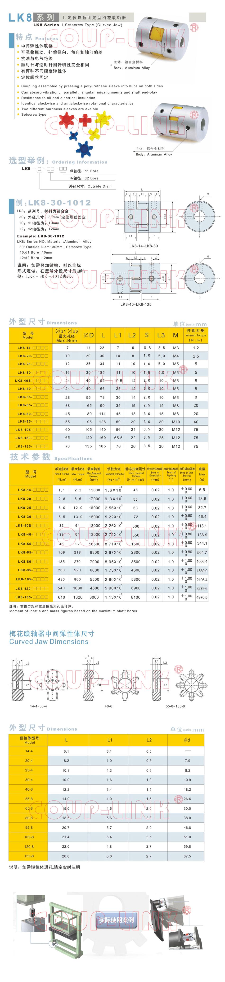 LK8系列 定位螺絲固定型梅花老子有钱app_老子有钱app種類-廣州老子有钱自動化設備有限公司