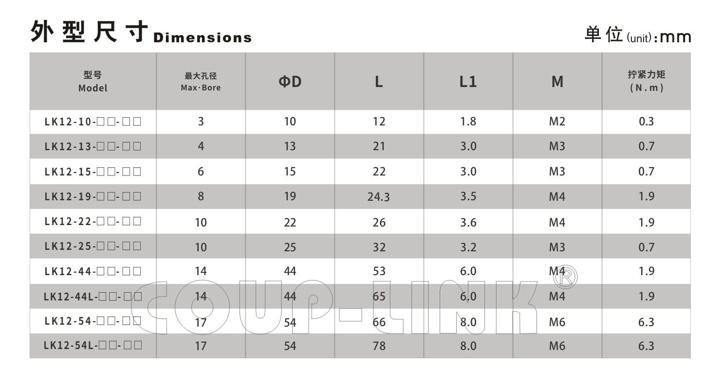 LK12系列 编码器联轴器_联轴器种类-广州菱科自动化设备有限公司