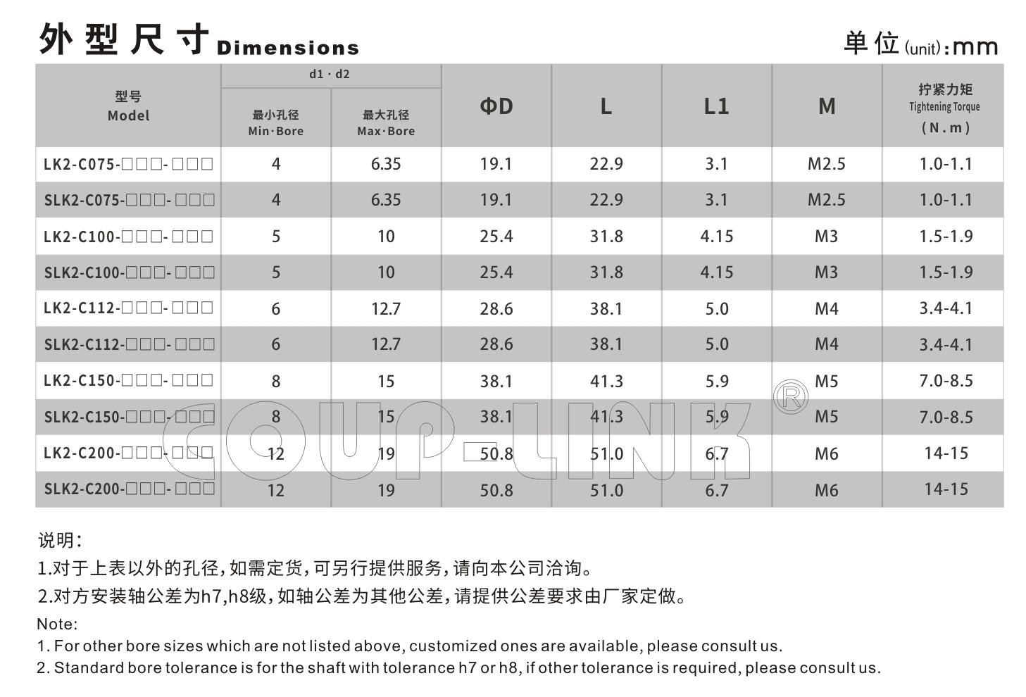 LK2系列 夾緊螺絲固定平行式_聯軸器種類-廣州菱科自動化設備有限公司