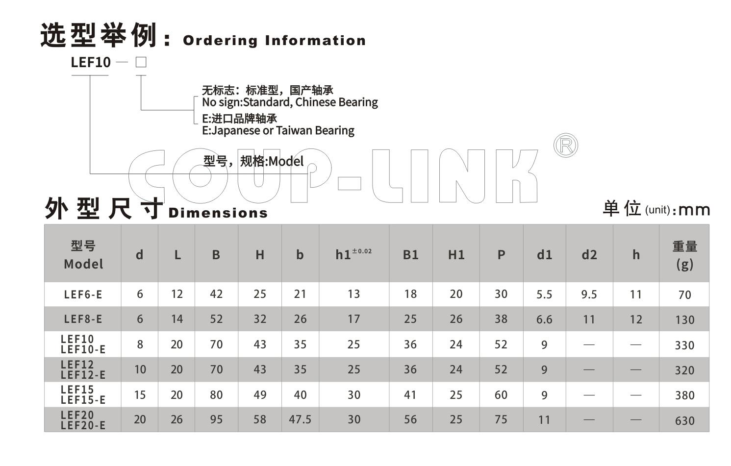 LEF 支撑侧_联轴器种类-广州菱科自动化设备有限公司