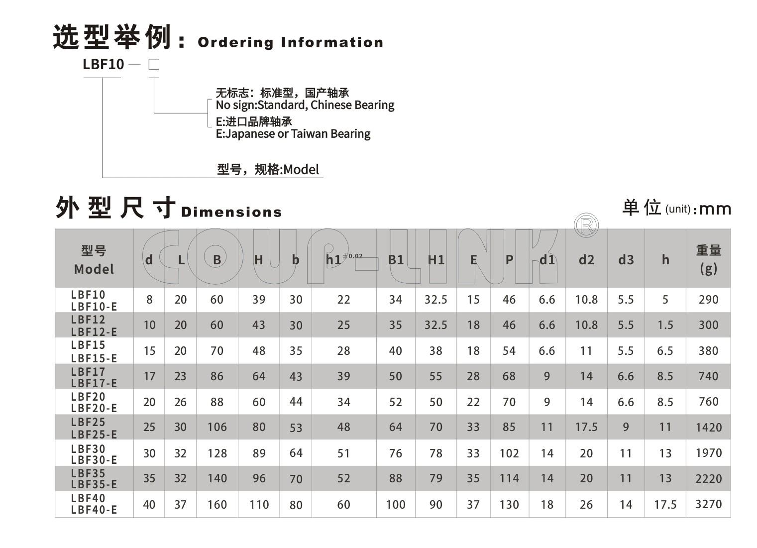 LBF 支撐側_聯軸器種類-廣州菱科自動化設備有限公司