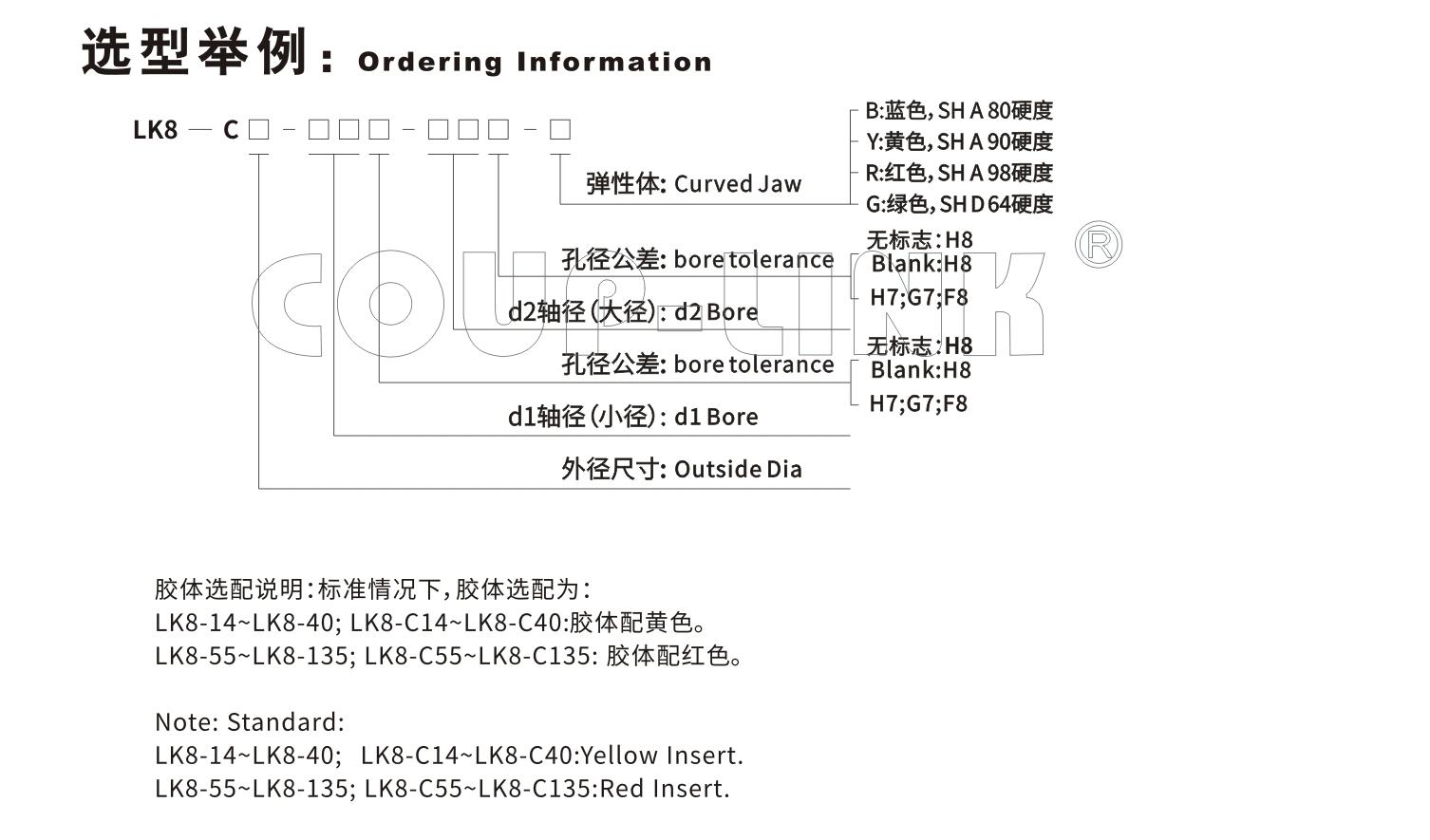 夹紧螺丝固定型梅花联轴器LK8系列-新葡集团3522