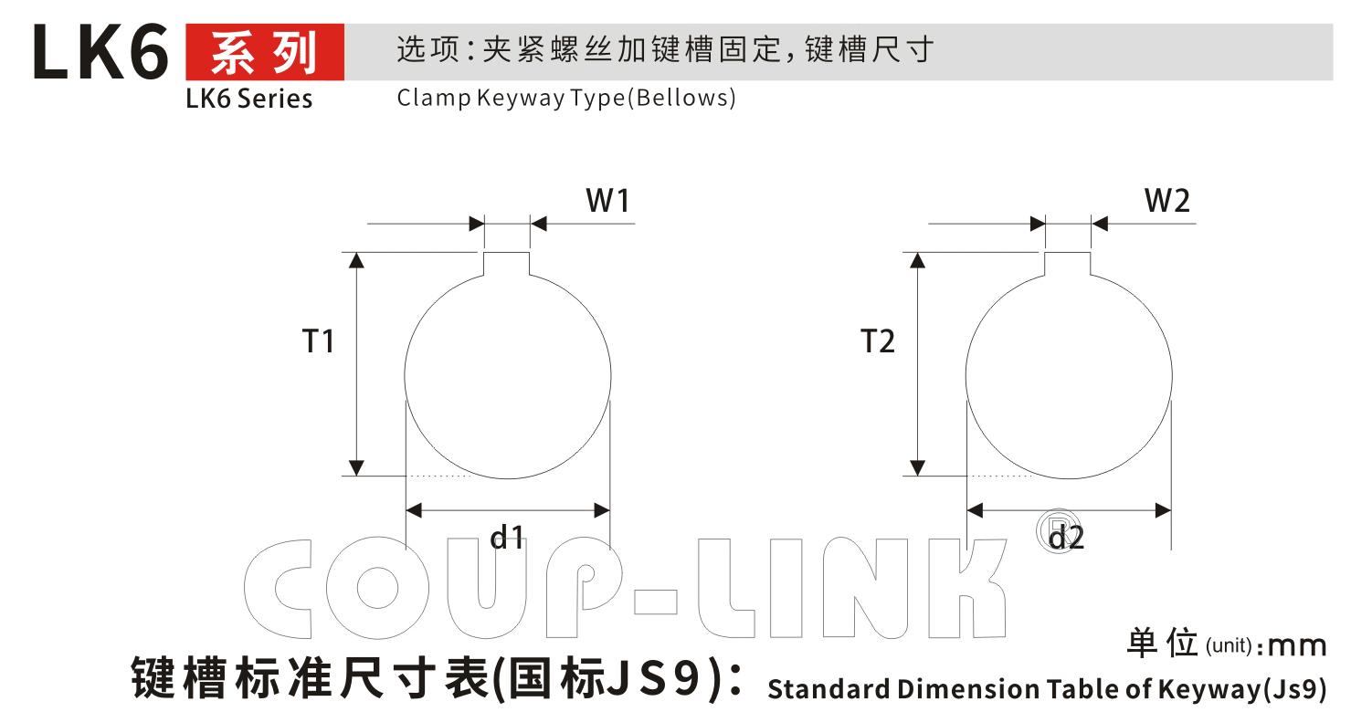 夾緊螺絲固定波紋式波紋管聯軸器LK6系列-聯軸器廠家