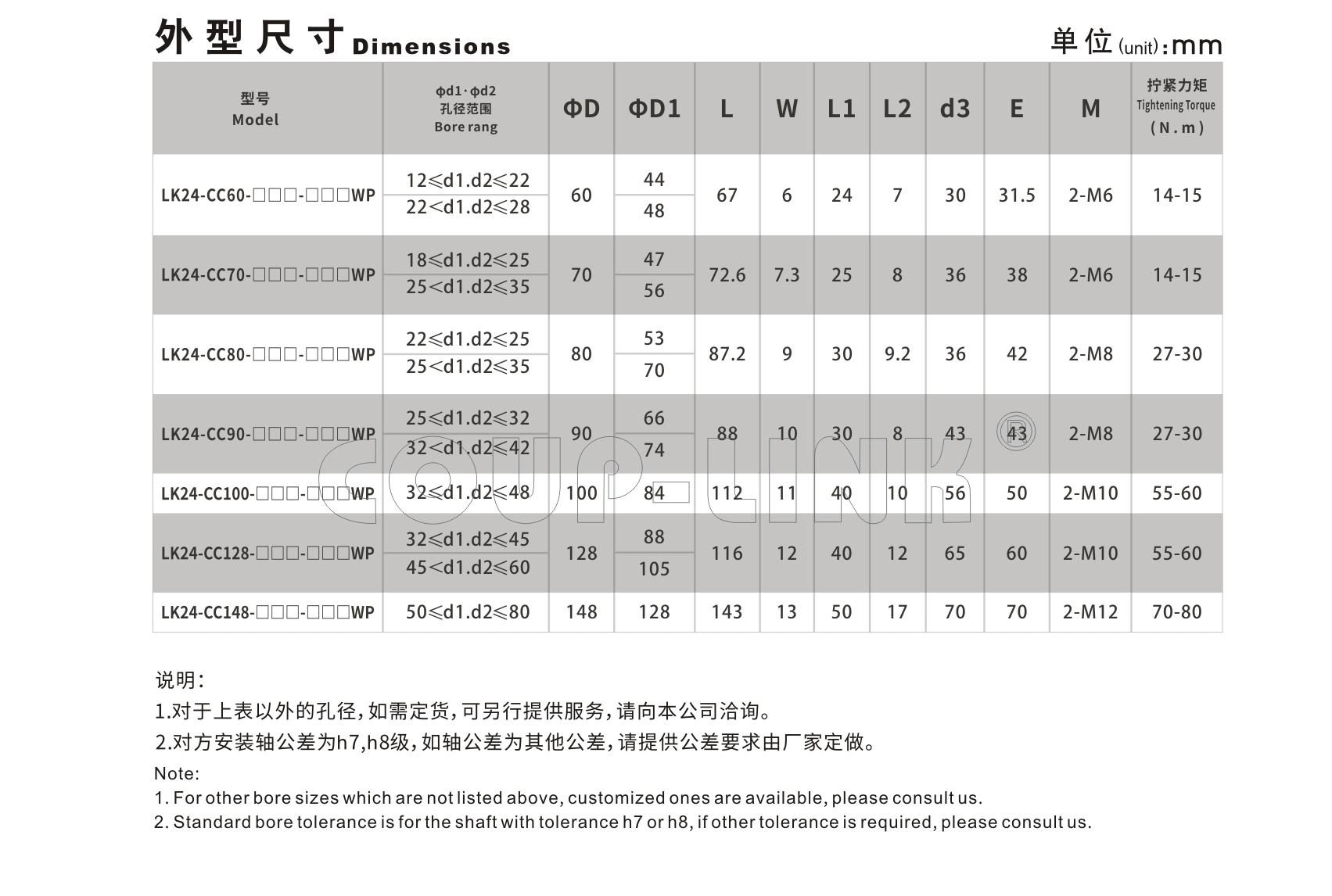LK24系列 多节夹紧螺丝固定式(膜片联轴器)_联轴器种类-广州菱科自动化设备有限公司