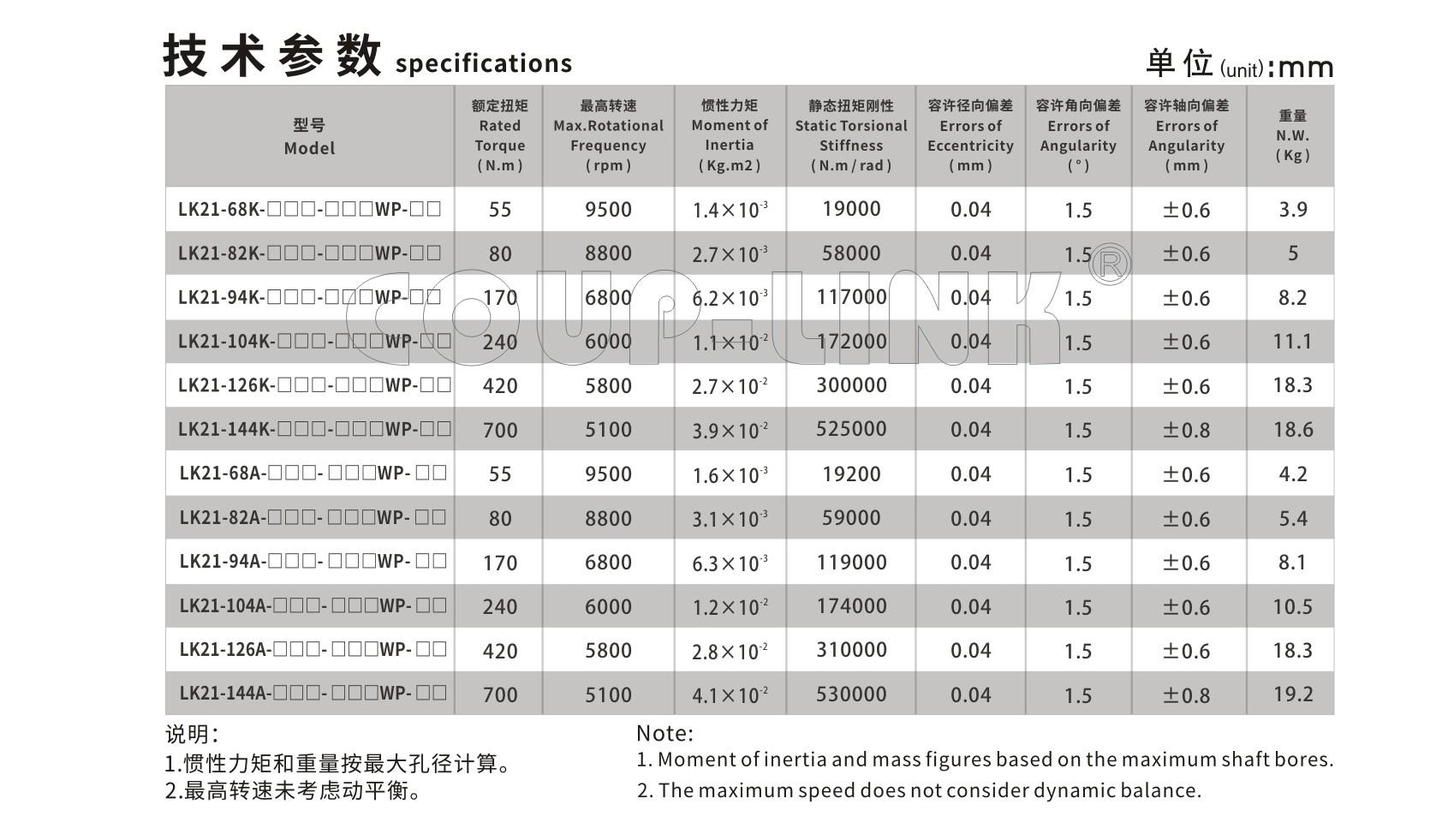 LK21 系列 长跨距键槽膜片联轴器_联轴器种类-广州菱科自动化设备有限公司