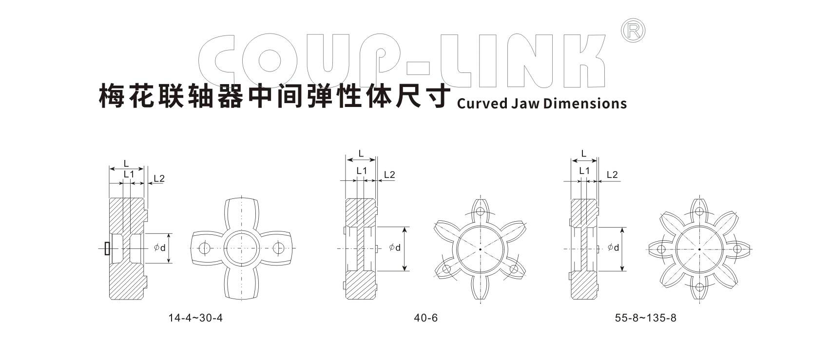 夹紧螺丝固定型梅花联轴器LK20系列(经济型)-联轴器厂家